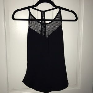 Alo Yoga top with mesh and open back
